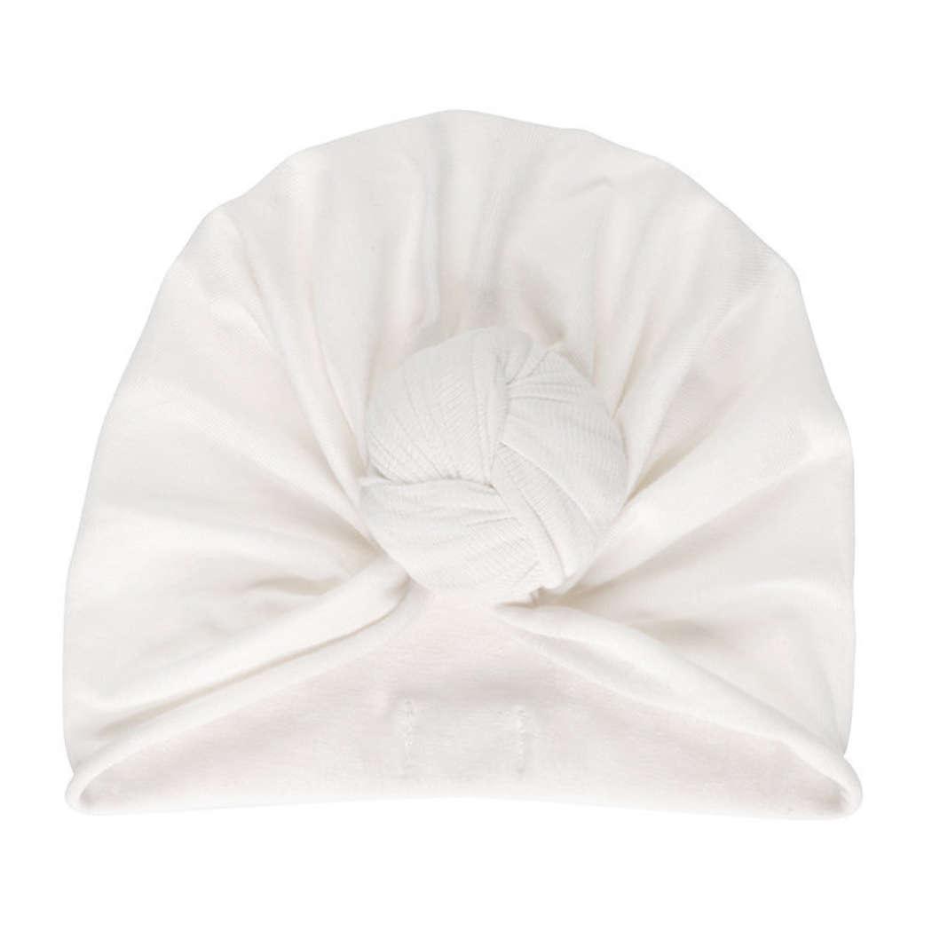 Turban beanie cream vierkant