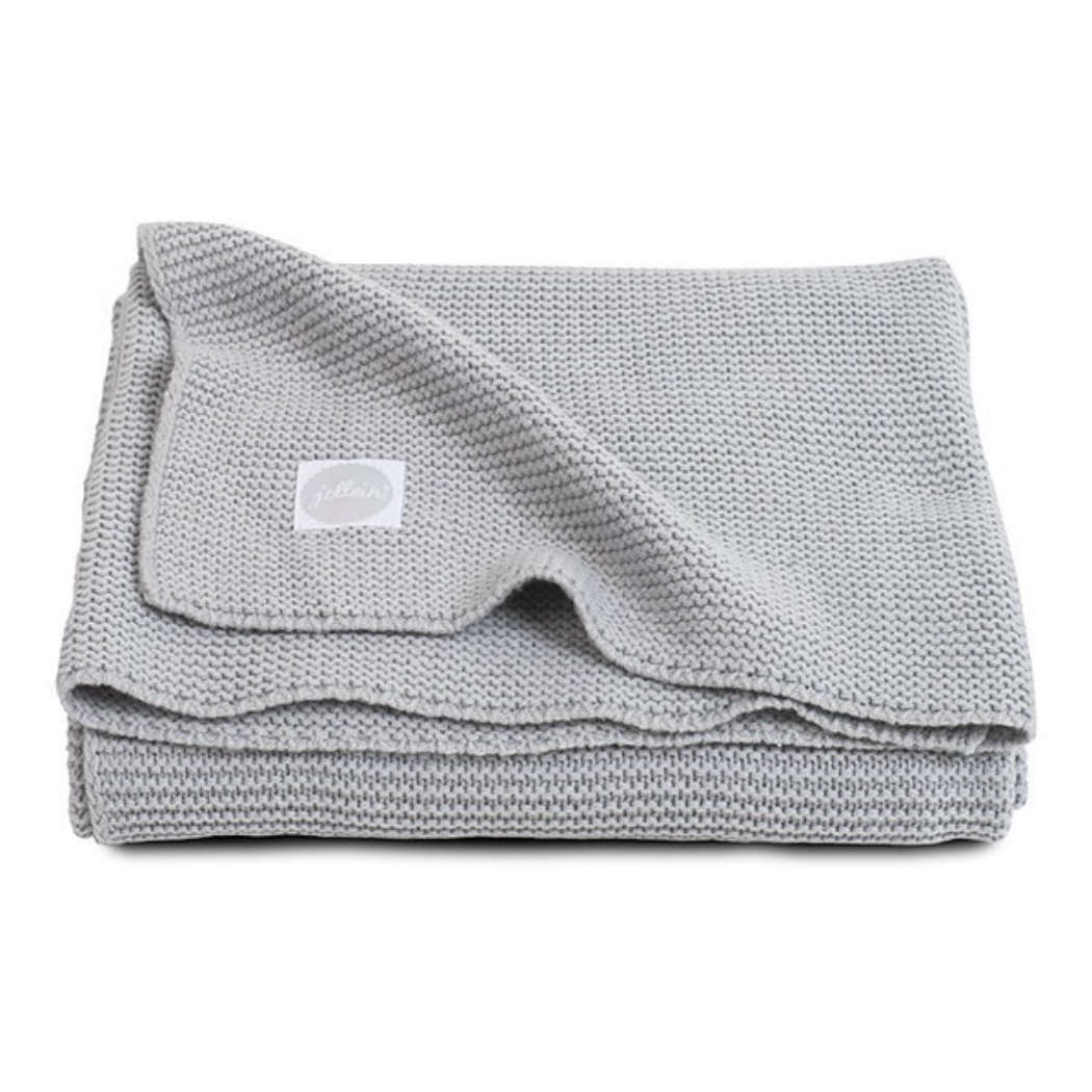 Deken basic knit light grey 600