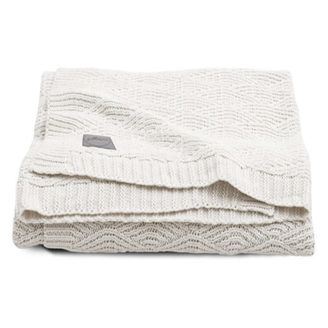 Deken 75x100cm River knit cream white