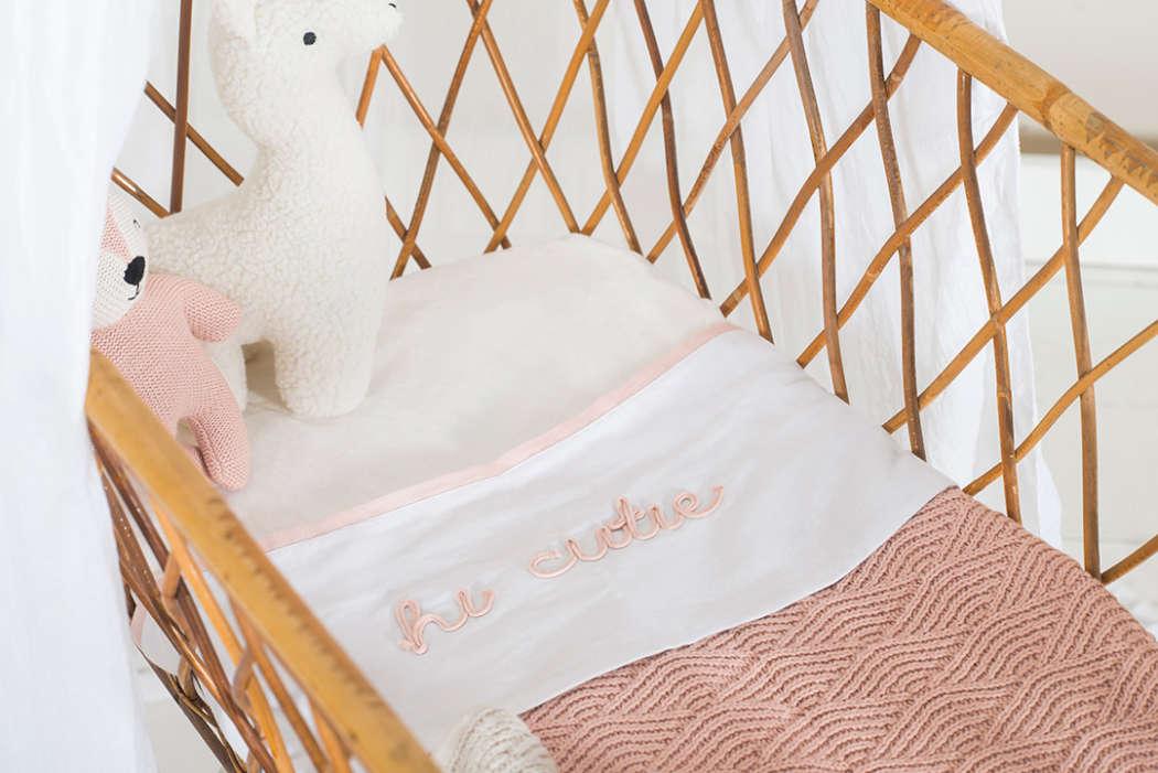 Deken 75x100cm River knit pale pink 5