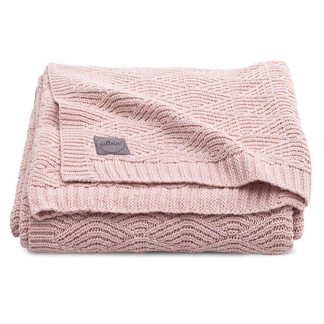 Deken 75x100cm River knit pale pink