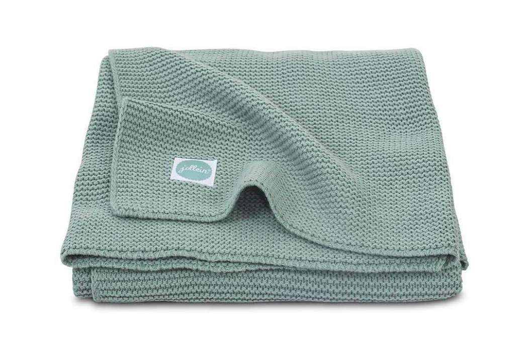 Deken_75x100cm_Basic_knit_forest_green