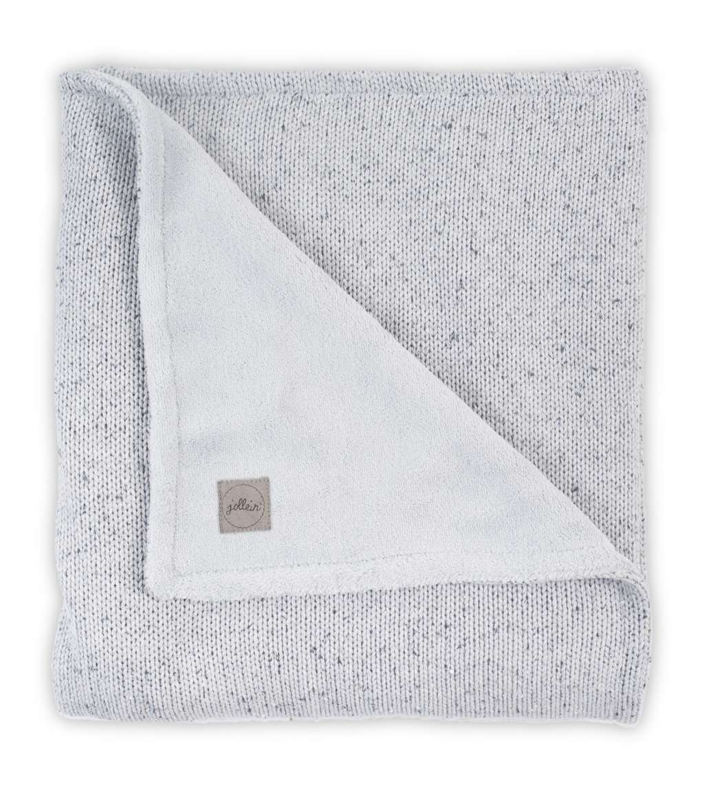 Deken_75x100cm_Confetti_knit_grey_coral_fleece