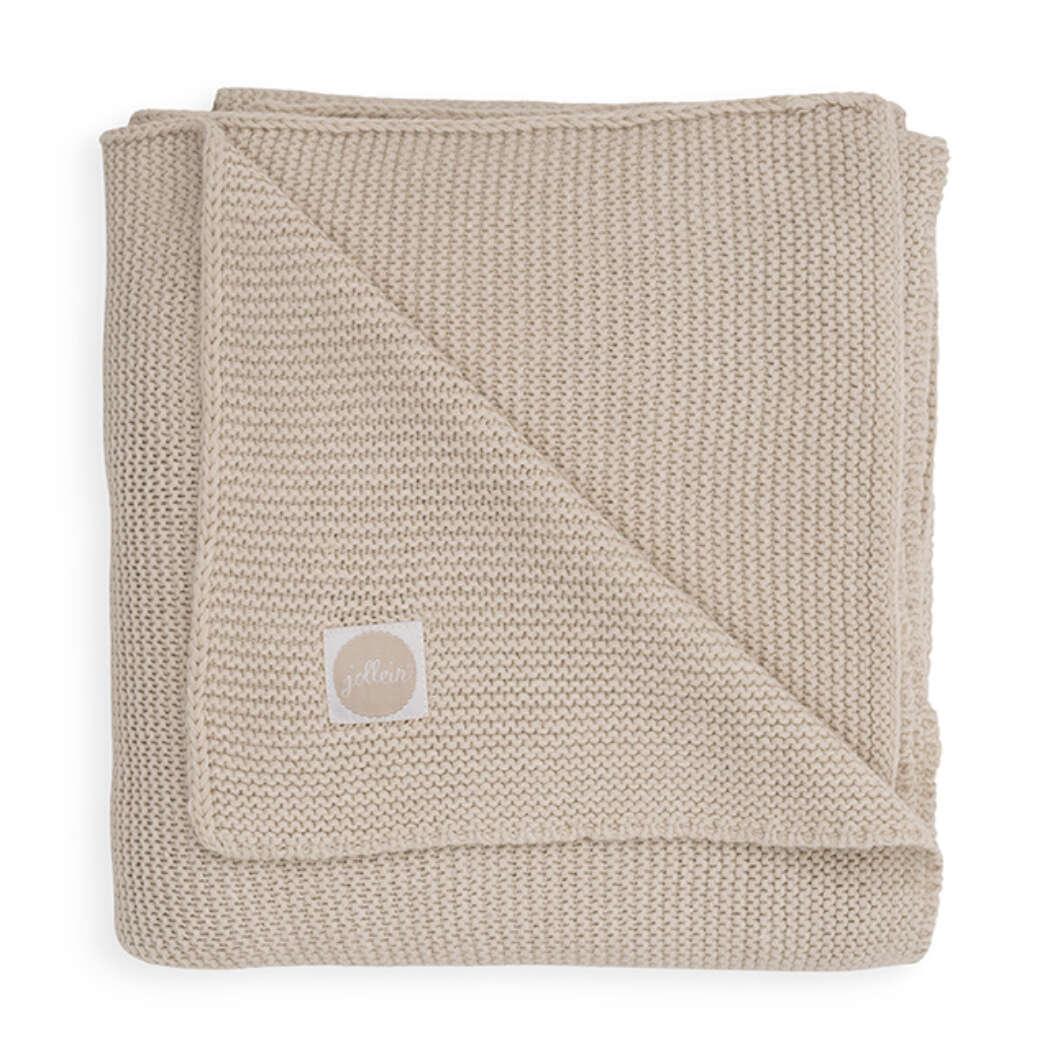 Wieg Deken Basic Knit 75x100cm Nougat