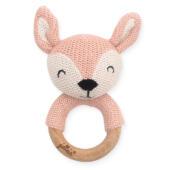 Bijtring Ø 7cm Deer pale pink