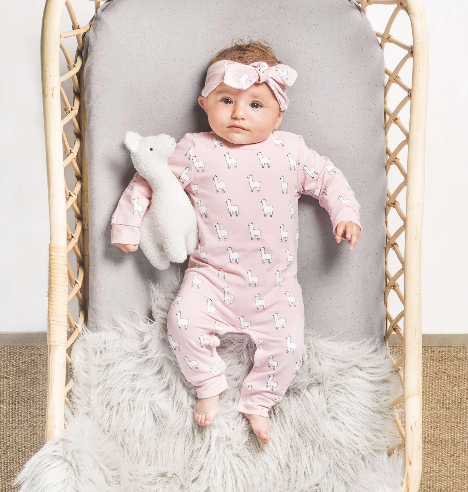 2a85034059afdc Jollein Haarband Lama Blush Pink - Baby Alpaca Haarbandjes Kopen