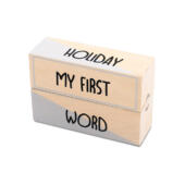 Houten Milestone First Moments black