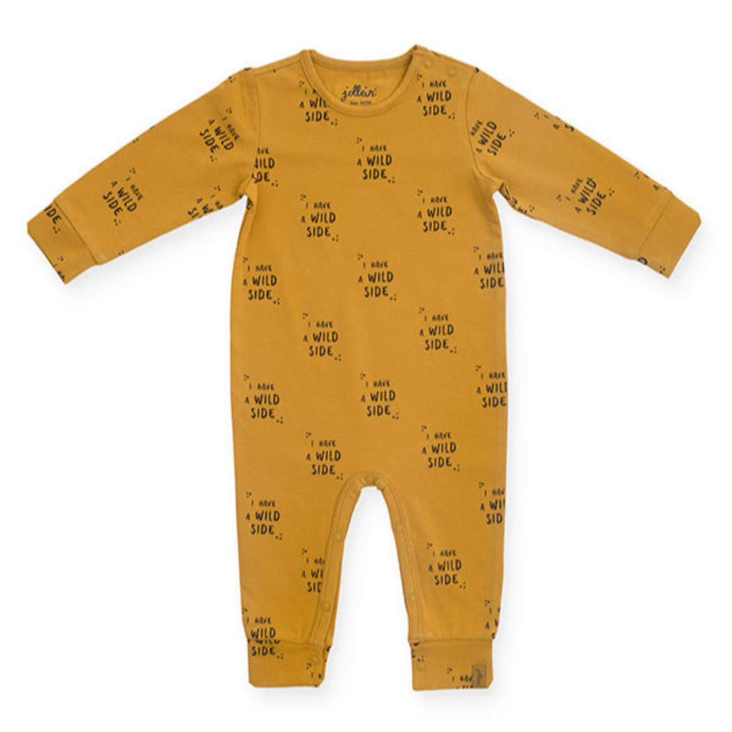 Jumpsuit Wild animal mustard