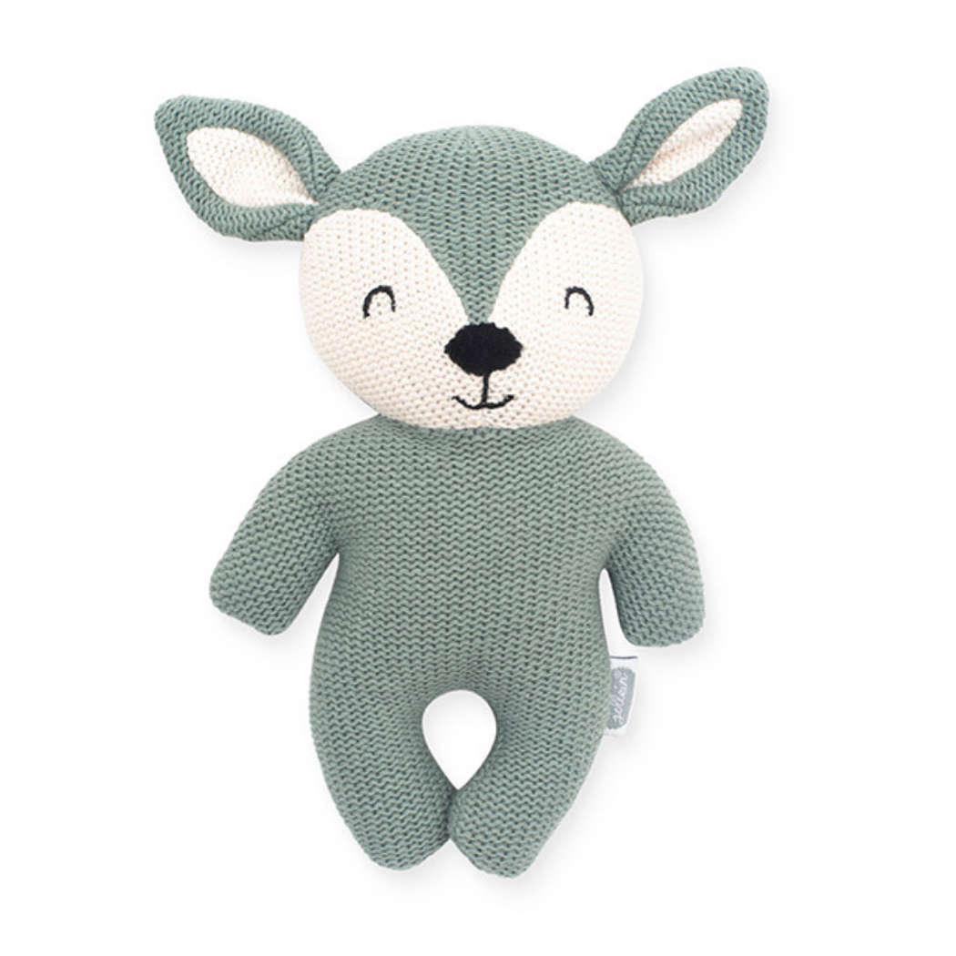 Knuffel Deer ash green