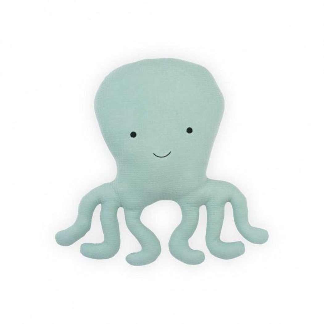 Knuffelkussen_octopus_Tiny_waffle_soft_green