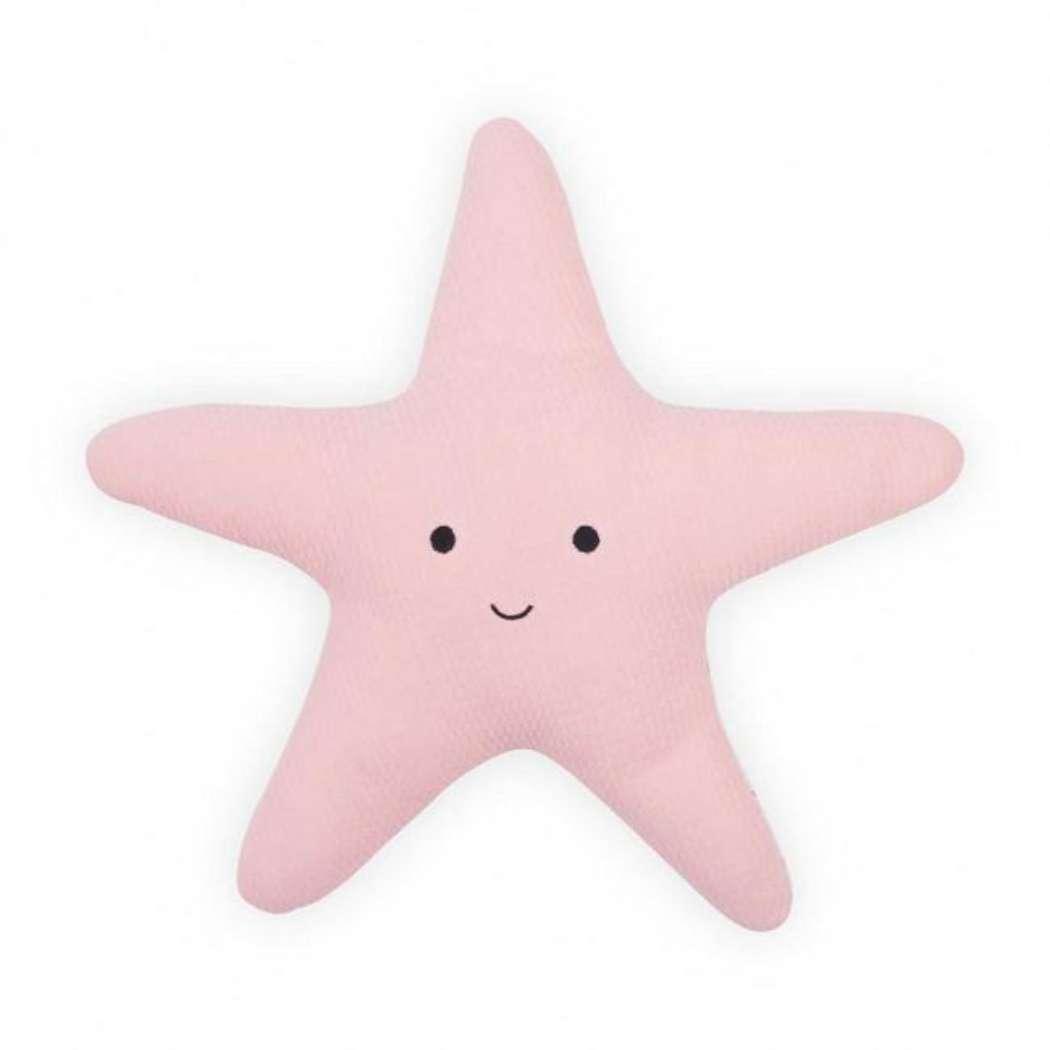 Knuffelkussen_zeester_Tiny_waffle_soft_pink