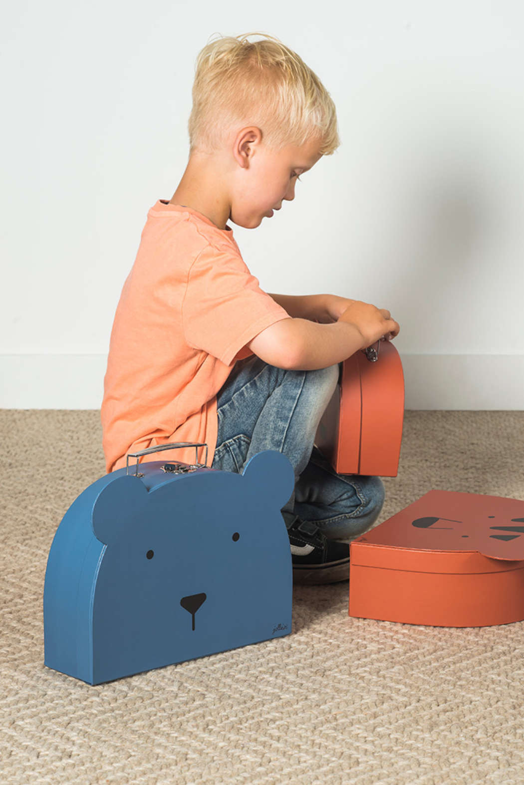 Koffer animal blue 3