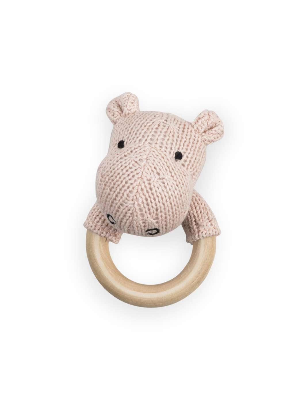 Rammelaar_bijtring_O_7cm_Soft_knit_hippo_creamy_peach