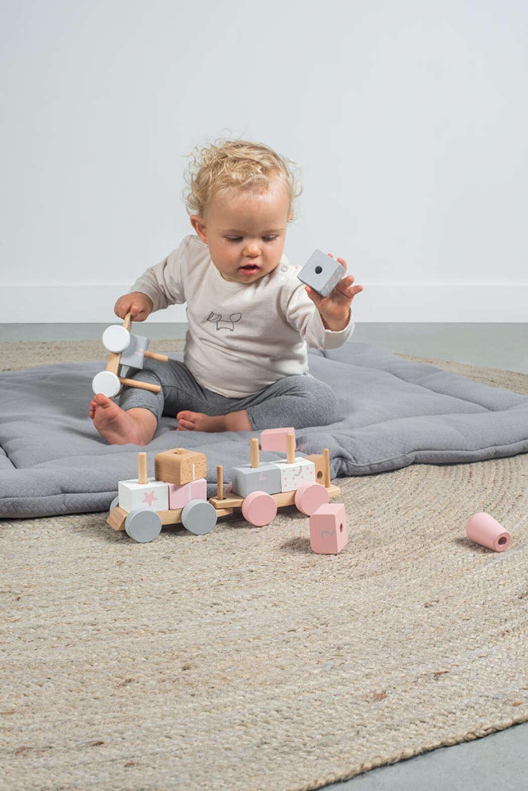 Speelgoedtrein roze 2