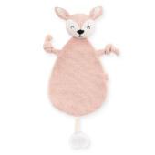 Knuffeldoekje Deer pale pink