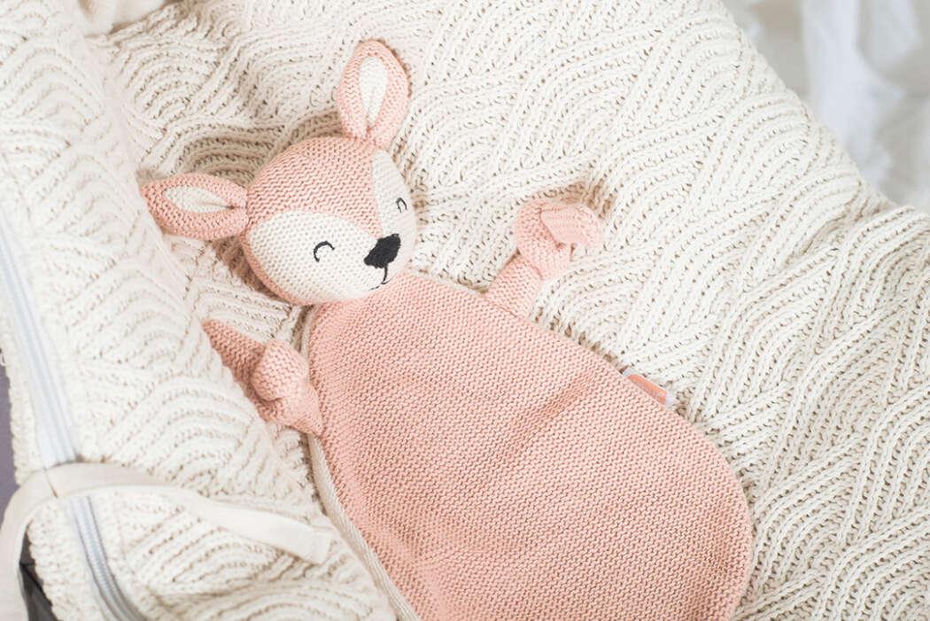 Knuffeldoekje Deer pale pink 3