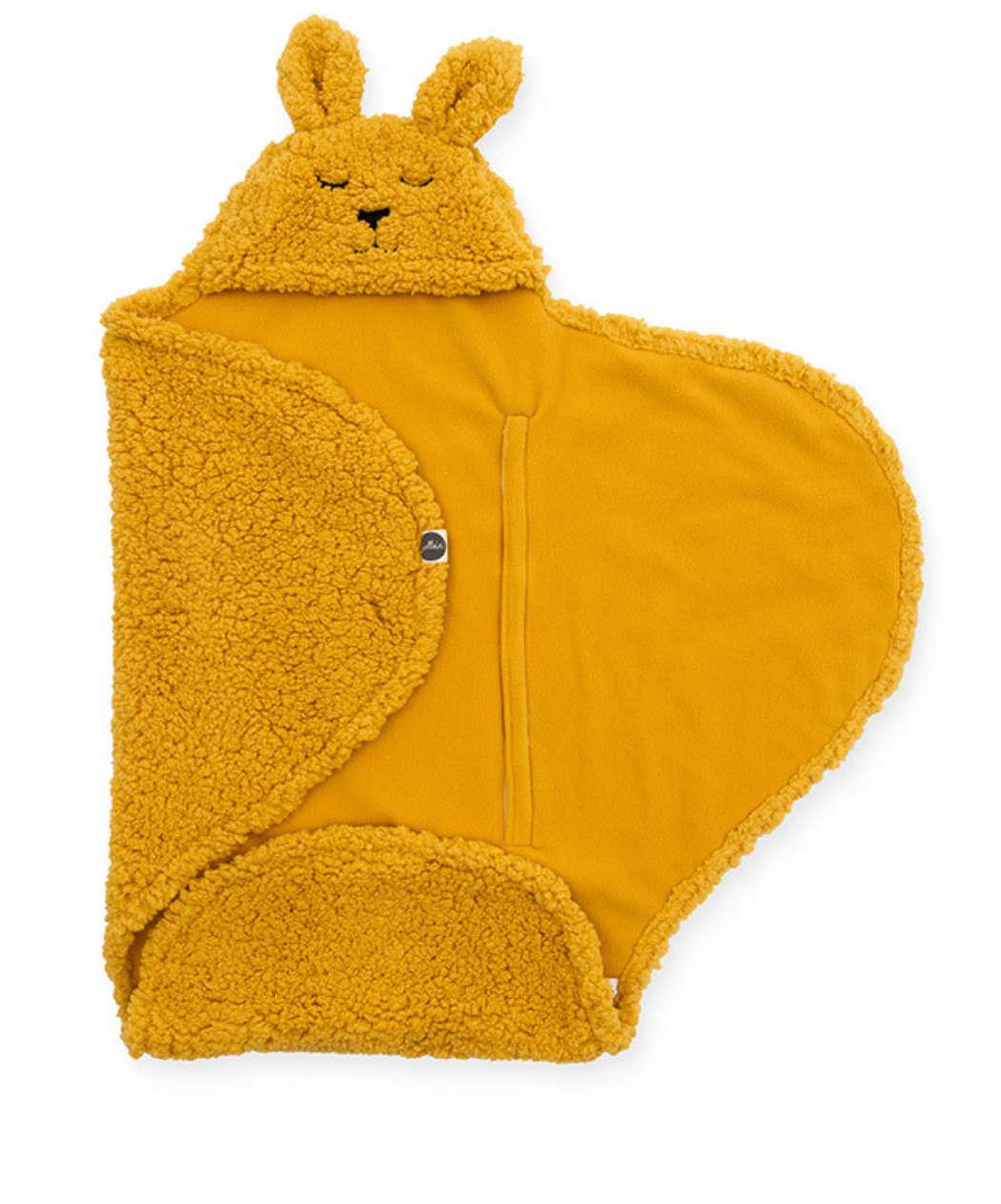 Wikkeldeken mustard