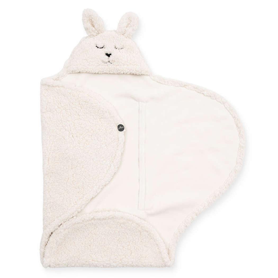 Wikkeldeken bunny off white vierkant