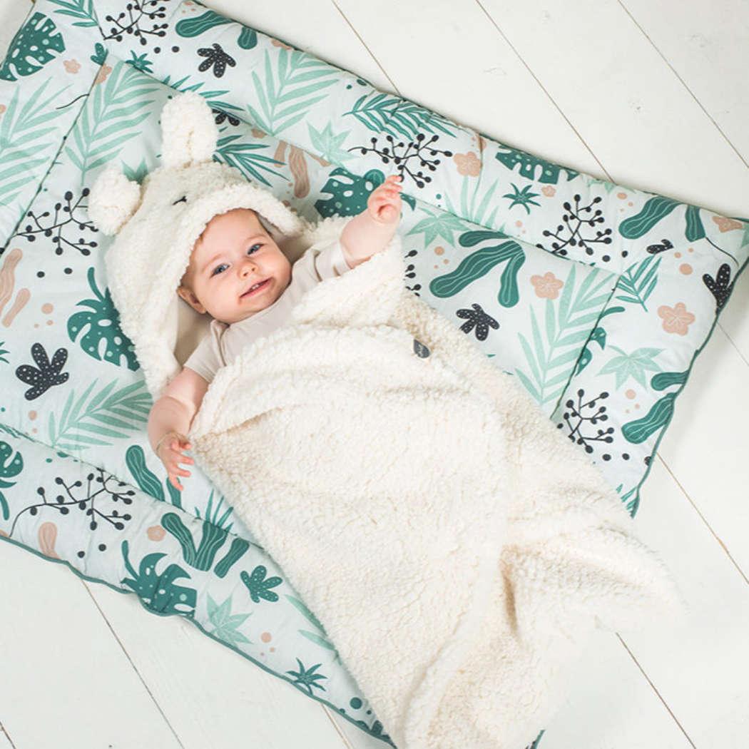 Wikkeldeken bunny white