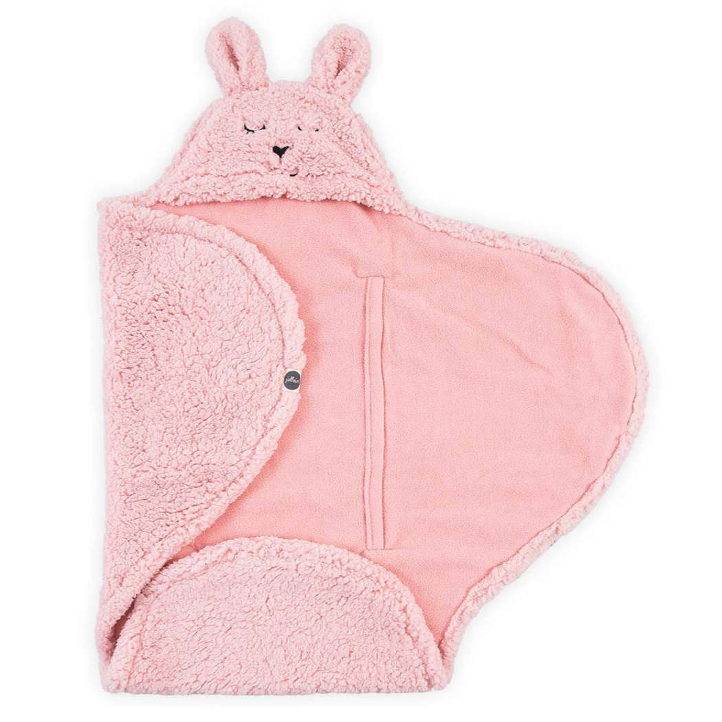 Wikkeldeken bunny pink vierkant