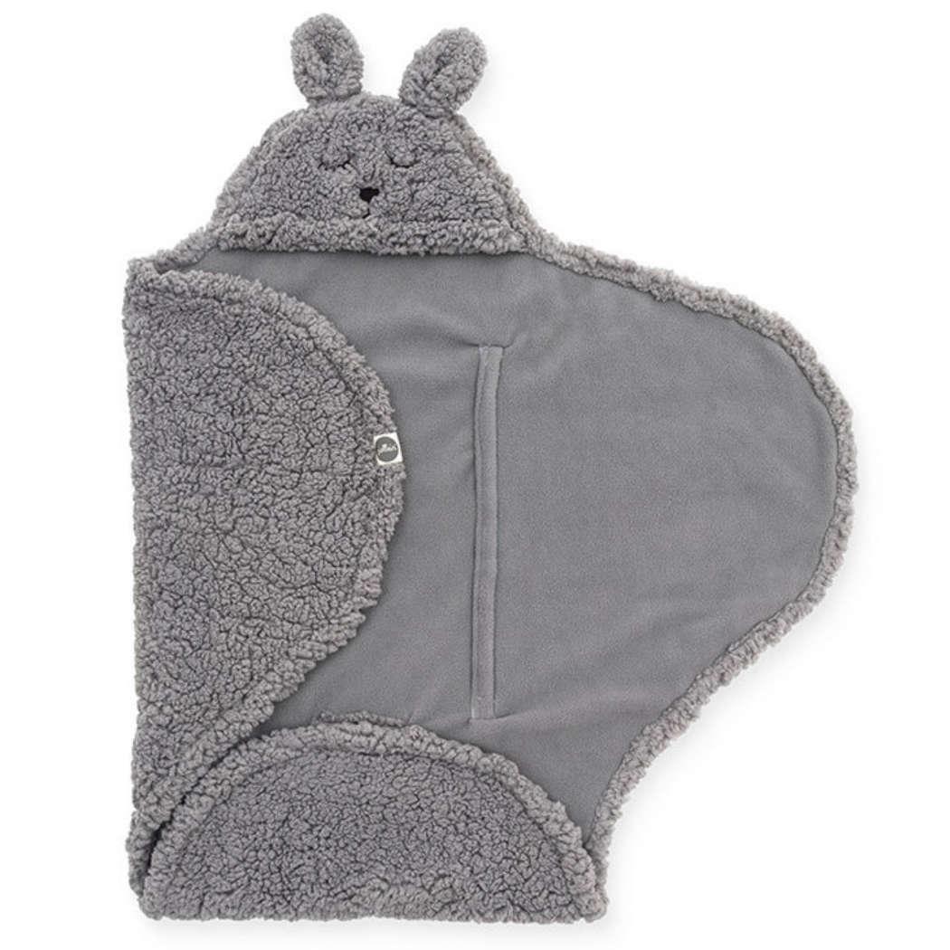 Wikkeldeken bunny grey vierkant