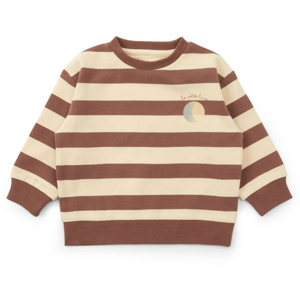 KS2169 LOU SWEATSHIRT STRIPED FIG BROWN Main