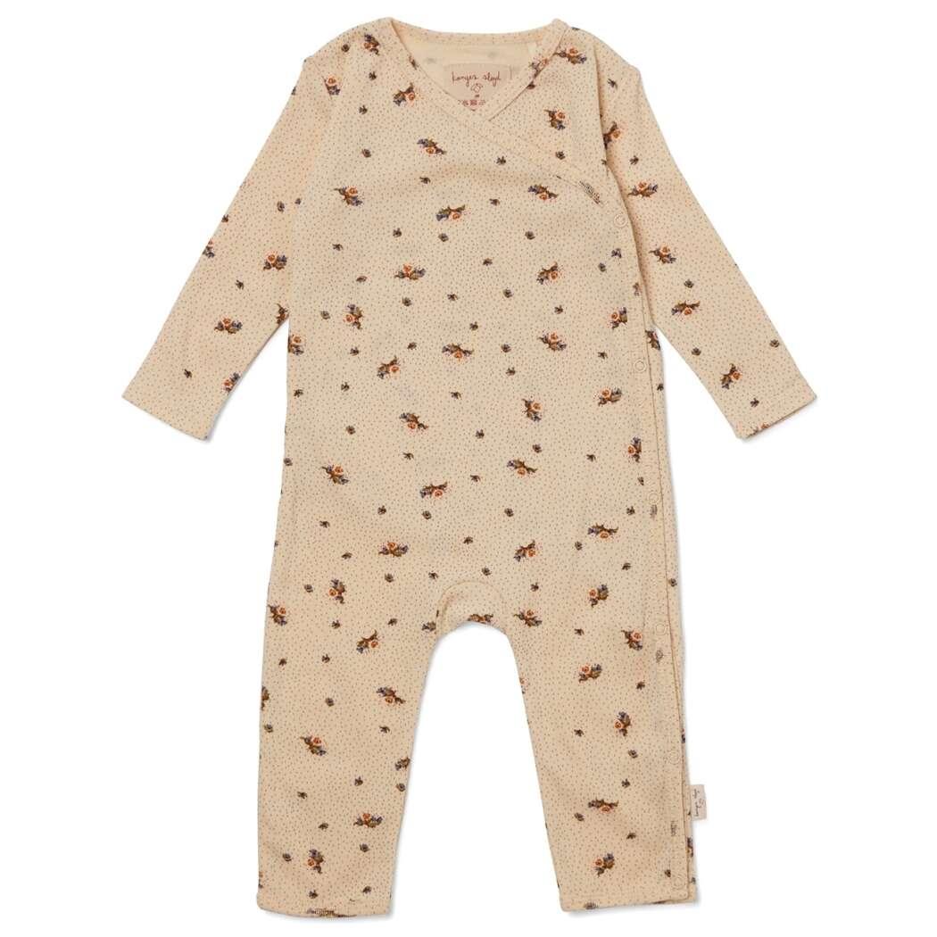 Ks2600 konges sloejd newborn onesie heldragt jumpsuit flower bouquet p
