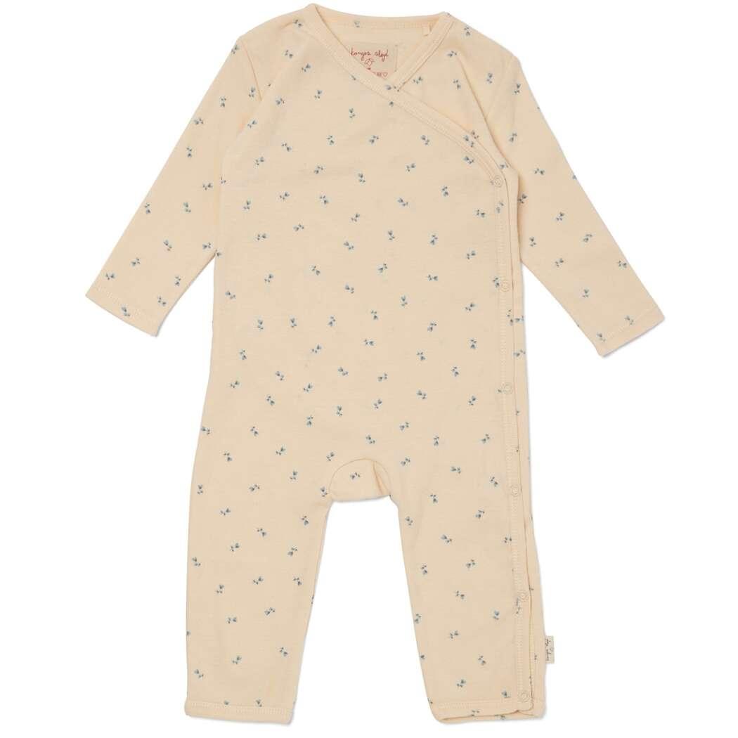 Ks2600 konges sloejd newborn onesie heldragt jumpsuit petit bisou blue p