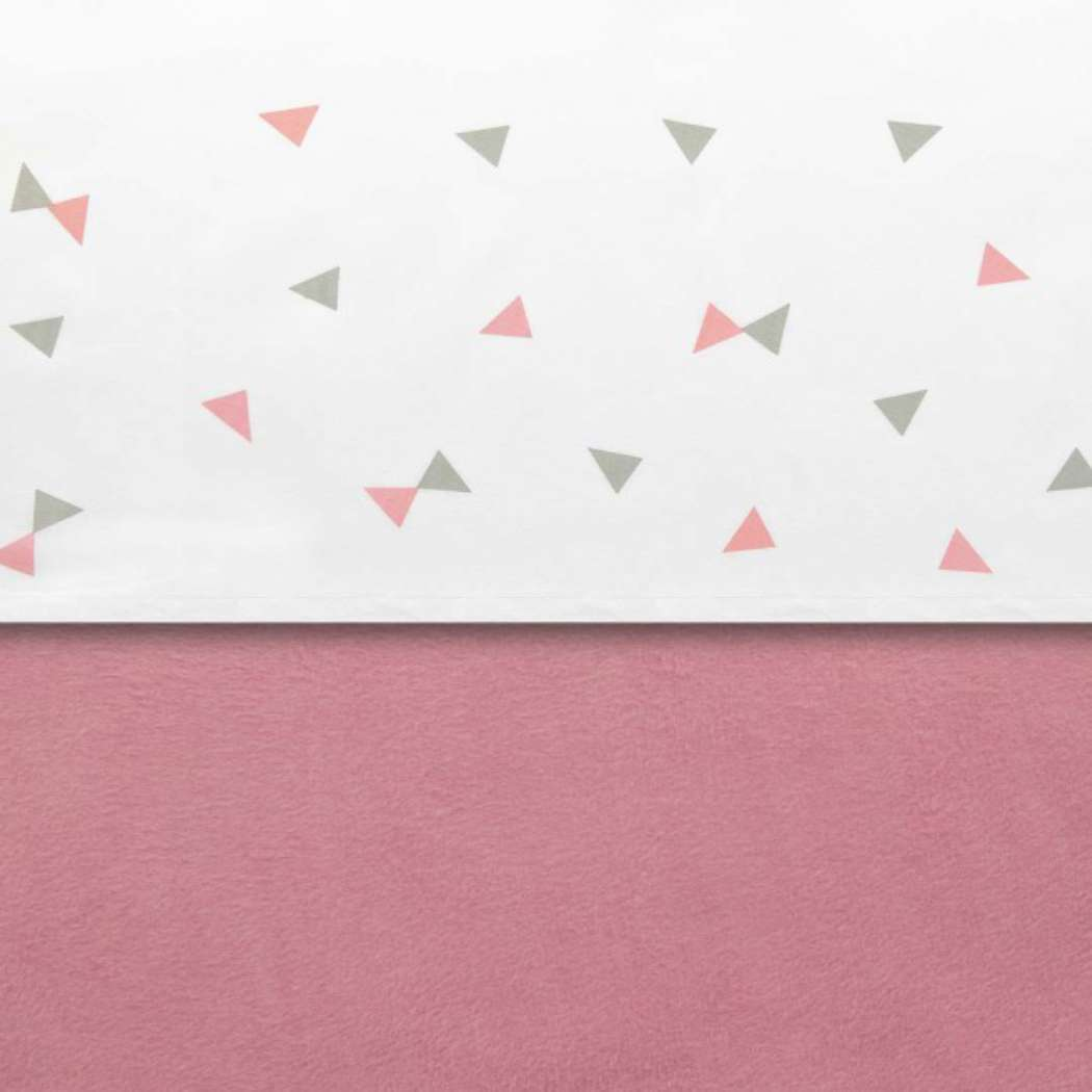 Laken Little Lemonade 120x150cm Triangle greypink