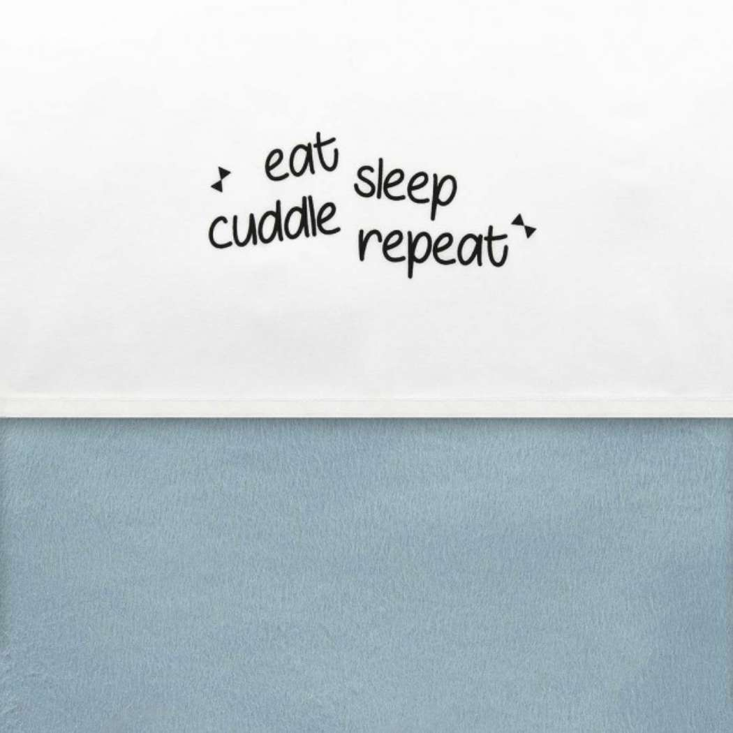 Laken Little Lemonade 75x100cm Eat sleep cuddle repeat