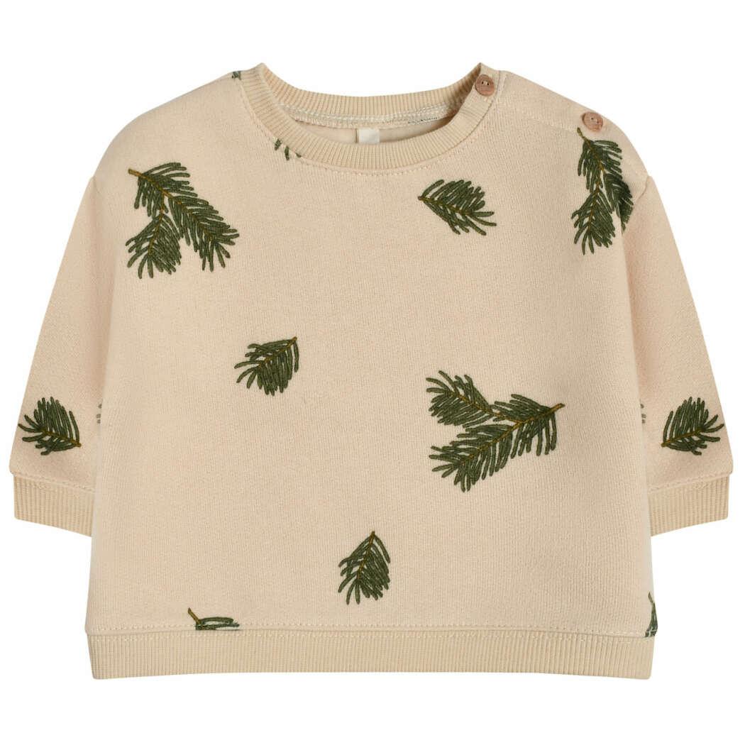 Organic Zoo PFBSOZ Pine Forest Sweatshirt White