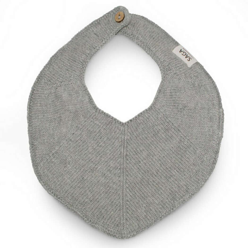 1401 Saga Fjola Knitted Bib Grey Melange web